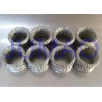 China Compressed Metal Knitted Mesh Filters Rings Shape Gaskets With Copper Material on sale