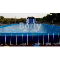 Wholesale Outdoor Durable 0.9mm PVC Tarpaulin Metal Frame Swimming Pool For Water Park from china suppliers