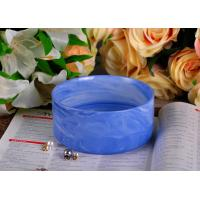 Wholesale Blue Marble Round Shape Ceramic Candle Holder with Different Color Effects from china suppliers