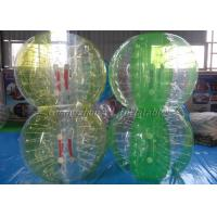 China Good Half Yellow Feedback Body Inflation Ball Suit Soccer Zorbing Clear on sale
