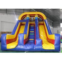 Buy cheap Kids PVC Inflatable Dry Slide Minion Fun Cartoon Dual Lanes With Stairs from wholesalers