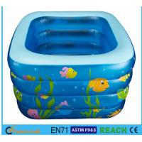 Quality Square Inflatable Swimming Pool Sea Animal Printing Easy Setting Up For Kids Toy for sale