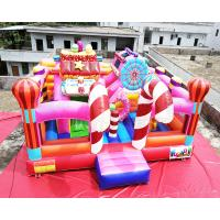 Wholesale Sugar Candy House 6x6x3.2M Commercial Jumping Castles from china suppliers