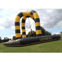 40x20Ft Inflatable Party Games Wrecking Ball , Customized Extreme Human Demolition Ball