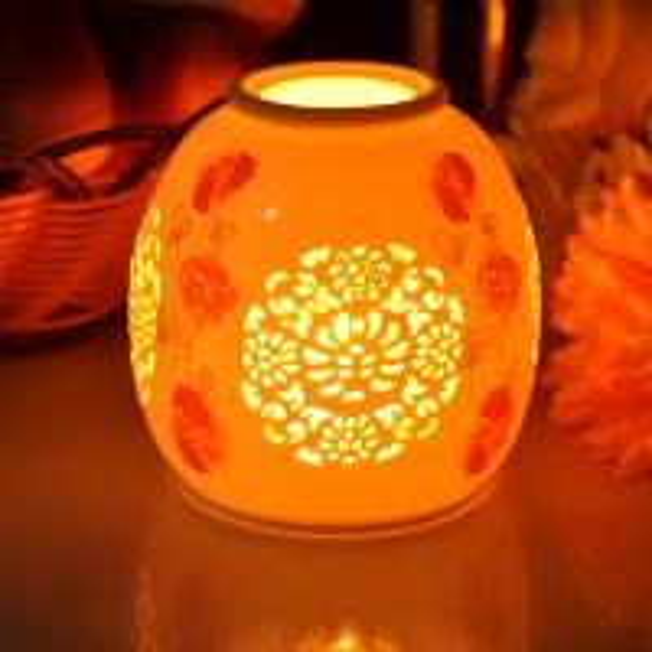 Wedding or Party Celebration Glossy Aroma Burner Ceramic Candle Holder