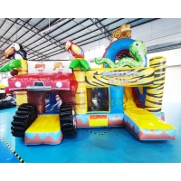 Wholesale Animal Zoo Jumping Bouncy Castle Inflatable Bouncer Bounce House Combo from china suppliers