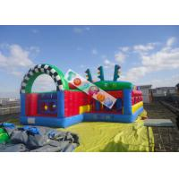 Wholesale Kids Inlfatable Amusement Parks Inflatable Run Chasing Race Fun City / Durable And Safety from china suppliers