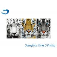 Wholesale Waterproof Three Way Flip Tiger 3D Lenticular Images Eco - Friendly from china suppliers