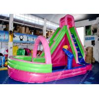 China Frozen PVC Pink Inflatable Water Slide Children's Outdoor Pool on sale