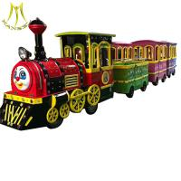 Wholesale Hansel shopping mall battery operated amusement trackless electric trains from china suppliers