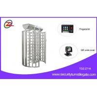 Wholesale Rotary Durable Flexible single turnstile Full Height with Fingerprint or QR Code Scan from china suppliers