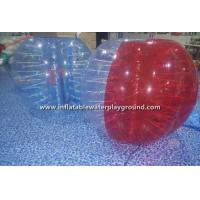 China Red / Clear Inflatable Bubble Ball For Humans , Bump Ball Game Bubble Football Suit on sale