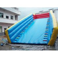Wholesale 0.55mm PVC tarpaulin Inflatable zorb ball ramp with long Inflated slide and air blower from china suppliers