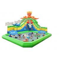 China Ocean Themed Inflatable Water Parks With Octopus Slide Outdoor Playground on sale