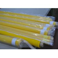 Yellow 80 Thread Polyester Mesh Screen Fabric For Textile Printing , 250cm Width