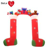 Wholesale Factory price 0.5mm Nylon Oxford red color inflatable santa arch from china suppliers