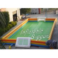 Wholesale Adult / Children Birthday Party Inflatable Sports Games , Outdoor Inflatable Soccer Pitch from china suppliers