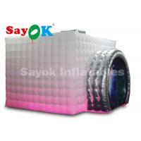 Quality White / Black Oxford Cloth Inflatable Photo Booth For Promotion CE UL SGS ROHS for sale