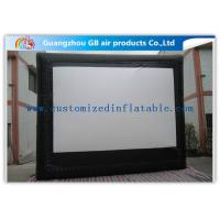 Wholesale Custom Frame Style Inflatable Movie Screen / Theater Screen For Outside Garden Film from china suppliers