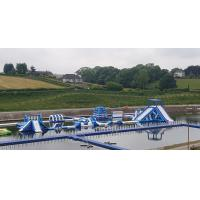 Buy cheap Giant Inflatable Water Park Games In Belfast / Inflatable Water Circuit from wholesalers