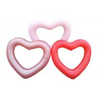China Inflatable Love Shape PVC Swimming Ring For Adults 1 Year Warranty on sale