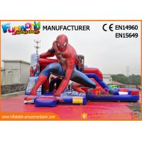 Wholesale PVC Tarpaulin Commercial Bouncy Castles Spiderman Inflatable Bouncer Slide from china suppliers
