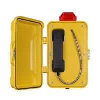 Wholesale Yellow Industrial Analog Telephone / Weatherproof Analog Phone With Warning Lamp from china suppliers