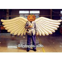Wholesale Shiny Slivery Angel Wings Inflatable Costumes for Adults Stage and Party Performance from china suppliers