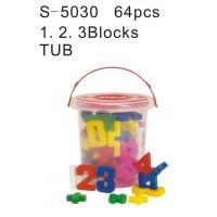 Wholesale Educational Toy, Alphabet Blocks, Teaching Aids, a. B. C Blocks Tub (S-5040) from china suppliers