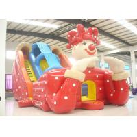Wholesale Big clown cartoon inflatable slide - inflatable long slide with arch from china suppliers