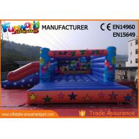 China Waterproof Inflatable Jumping Bounce With Slide For Playground / Theme Park on sale