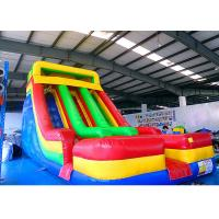 China 0.55mm PVC Tarpauline Large Inflatable Slide For Backyard Kids' Party on sale