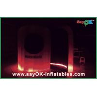 Wholesale Color Change Inflatable LED Photo Booth With Remote Control L3*W2*H2.3M from china suppliers