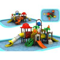 Wholesale European Standard Large Swimming Pool Slides Medium Sized Children Pool Playset from china suppliers