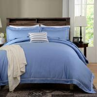 Wholesale Blue Dyed Solid Bedding Sets For Hotel And Beauty Salon Hypoallergenic from china suppliers