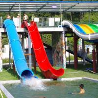Wholesale Water Park Swimming Pool Slides , Fiberglass Barrel And Sled Slides from china suppliers