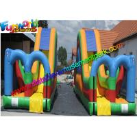 Wholesale Kids Inflatable Commercial Obstacle Challeng Twin Dry Slide Factory from china suppliers