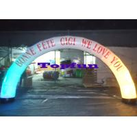 Wholesale White LED Lighting Inflatable Arches for Parties and Festivals from china suppliers