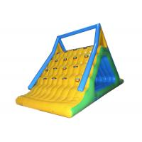 China Challenge Inflatable Summit Express Climbing Walls With Slide / Water Park Equipment on sale