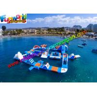 China Floating Inflatable Water Parks  , Giant  0.9mm Inflatable Water Toys For Hire on sale