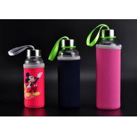 Quality Handmade Borosilicate Clear Portable Outdoor Pyrex Glass Sport Water Bottle for sale