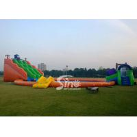 China Kids N adults giant inflatable water park on land with big inflatable swimming pool N big octopus slide on sale