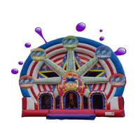 Buy cheap Ferris Wheel Inflatable Combo Bounce House / Commercial Jumping Castle from wholesalers