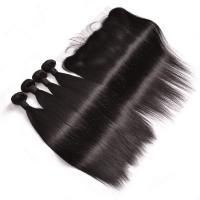 Wholesale 100% Brazilian Virgin Human Hair Extensions , Straight Remy Human Hair Weave from china suppliers