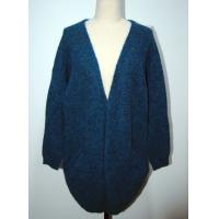 Wholesale Comfortable Womens Cardigan Sweaters Navy Blue With Two Lower Pockets from china suppliers