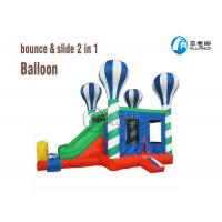 China playground kids inflatable balloon castle inflatable bounce house with slide on sale