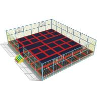 Wholesale adult trampoline park children jumping play zone big jump trampoline for shopping center from china suppliers