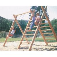 Wholesale wooden outdoor playground,The children climbed the ladder swing from china suppliers
