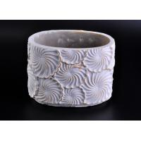 Wholesale Decoration flower round cement candle holder Hand made engraving from china suppliers