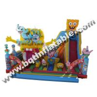 Wholesale Inflatable cartoon fun city,Inflatable jumping castle with slide,Inflatable amusement park from china suppliers